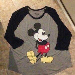 Mickey Mouse Disney raglan tee, size 3X